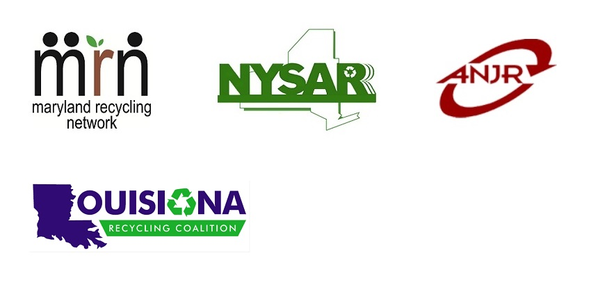 The current NERC-APR Government Recycling Demand State Recycling Organization Advocates' logos